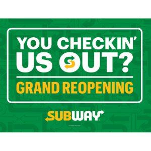 Subway Grand ReOpening